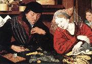 REYMERSWALE, Marinus van The Banker and His Wife rr oil painting